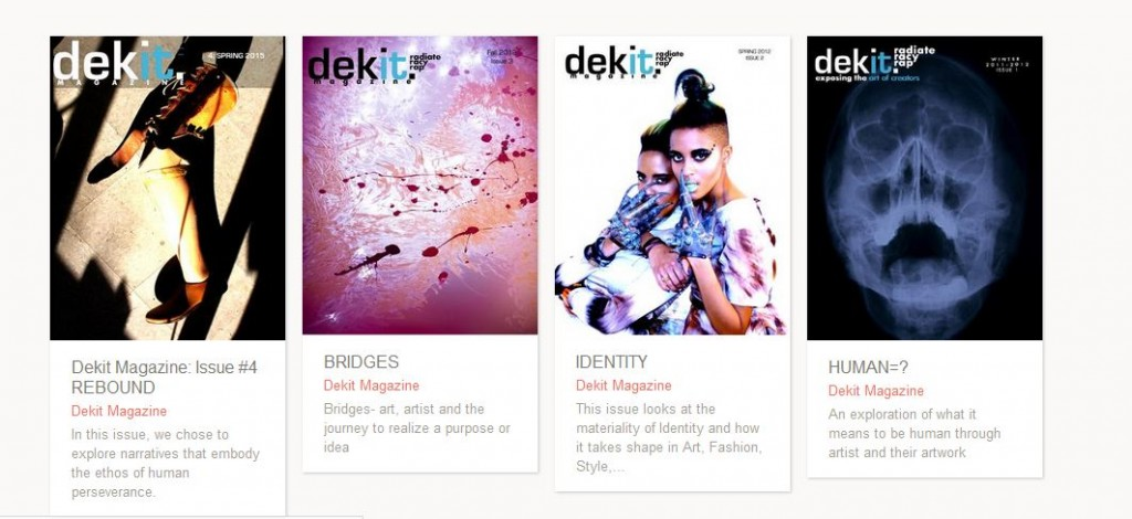 Dekit Magazine issues 1 to 4