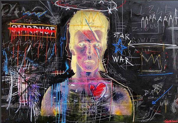 David Bowie fan art by Nick Twaalfhoven