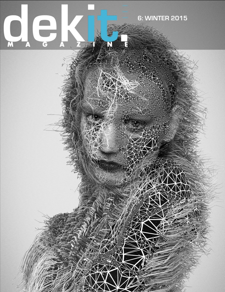 Janusz Jurek Generative Art Cover of Dekit Magazine Issue 6: Sway