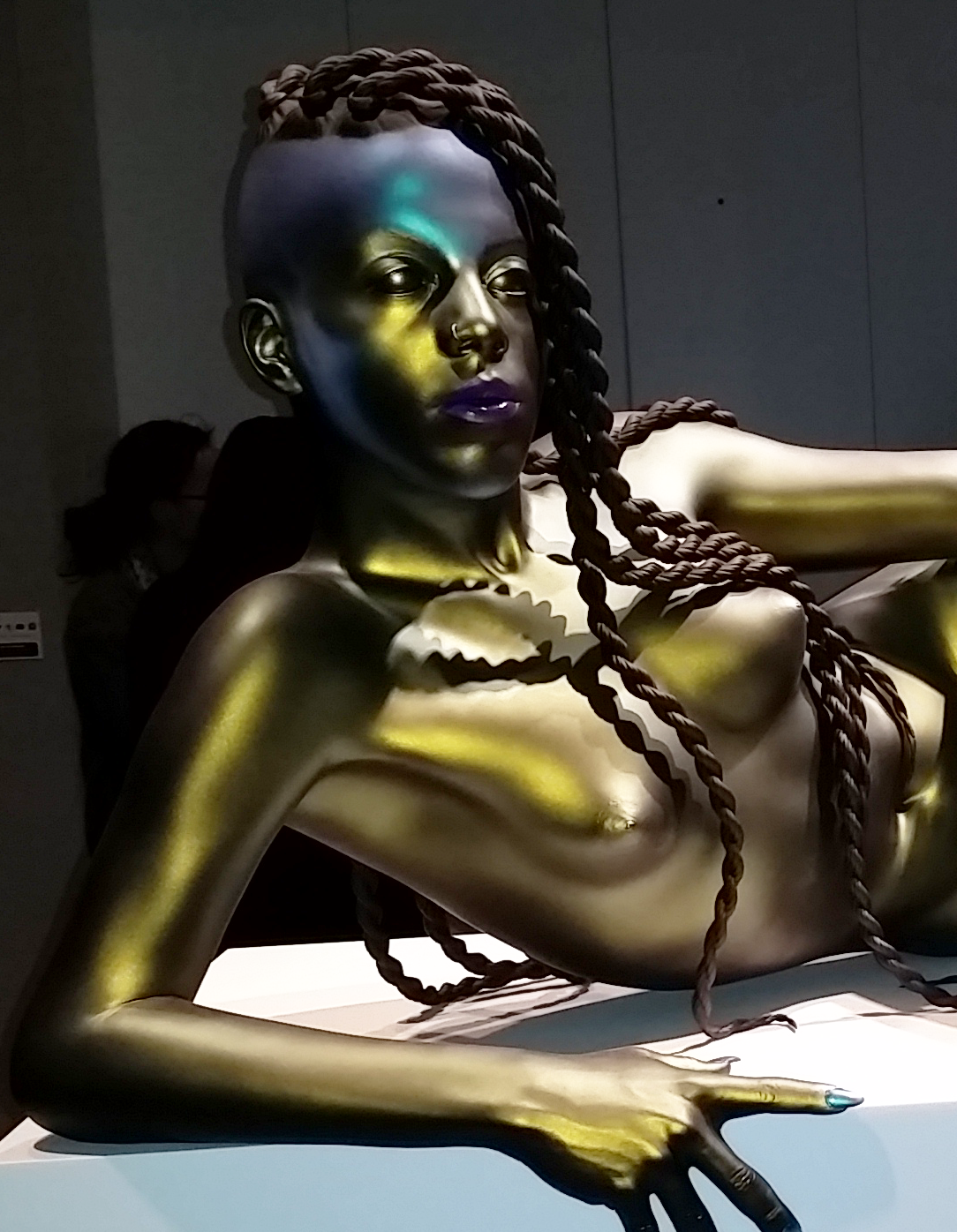 Female DJ Juliana Huxtable Sculpture by Frank Benson